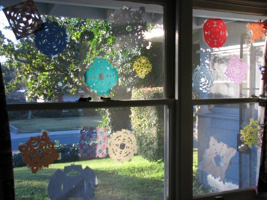 snowflake window
